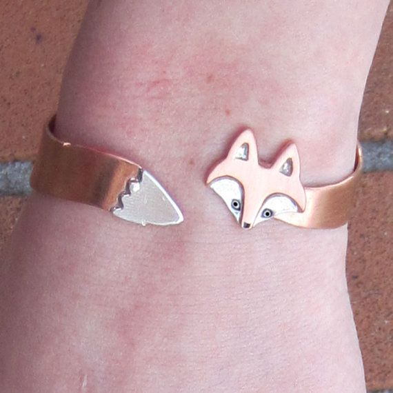 """wrap around #fox #bracelet. perfect for me - my boyfriend and I had our first date at the movies. we saw """"Fantastic Mr. Fox"""" and ever since foxes hold a different meaning in my heart."""