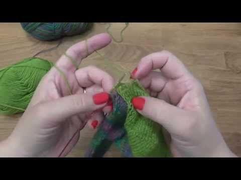 Kurz pletení ponožek - nad patou k patentu (8. díl) Knitting socks - YouTube