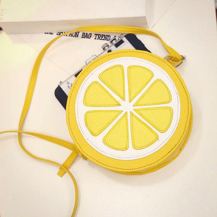 Fashion Fruit Style Lemon Slice Crossbody Shoulder Bag Messager Handbag Clutch #Unbranded #ShoulderBag