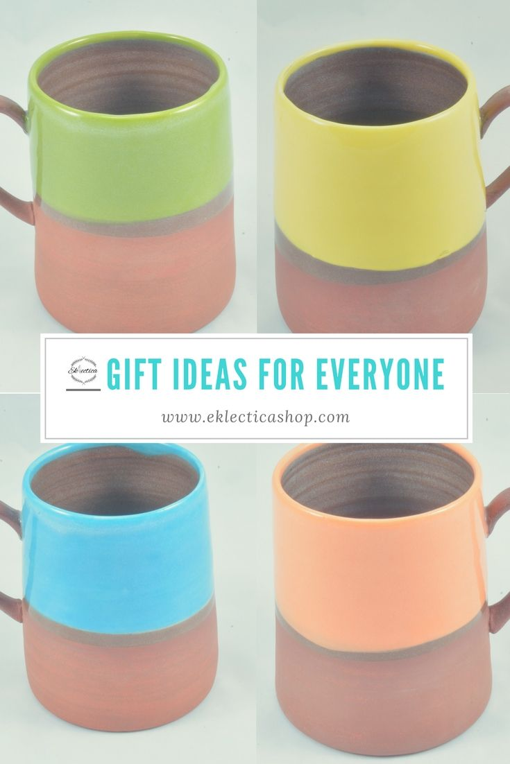 Gift ideas for anyone on your list. Handmade mugs from Canadian artisan Juliana Rempel. Shop at www.eklecticashop.com
