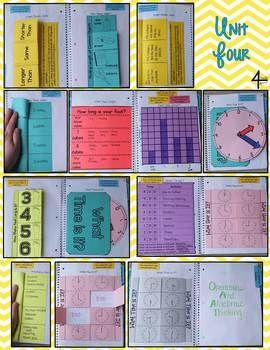 FIRST GRADE MATH INTERACTIVE NOTEBOOK BUNDLE- ACTIVITIES FOR YOUNG MATH MINDS - TeachersPayTeachers.com