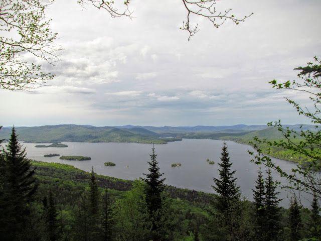 Mont-Ouareau vue sur le lac Ouareau