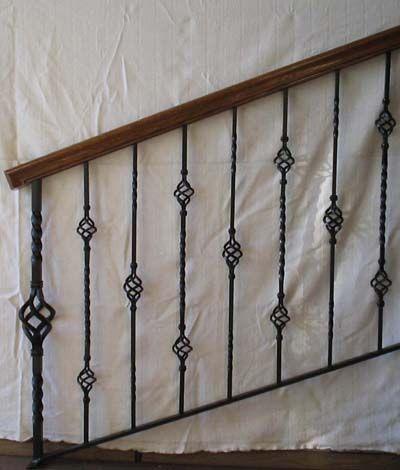 Iron Indoor Railing Designs | Wood Staircase: Interior Wrought Iron Railings Custom Brian Hughes ...