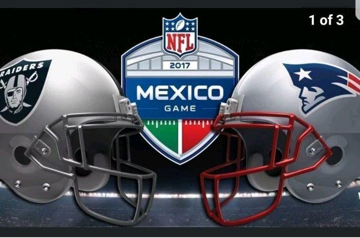 2-4 Oakland Raiders vs New England Patriots Mexico City 11/19/17  Sec 138 Row 18 #OaklandRaiders