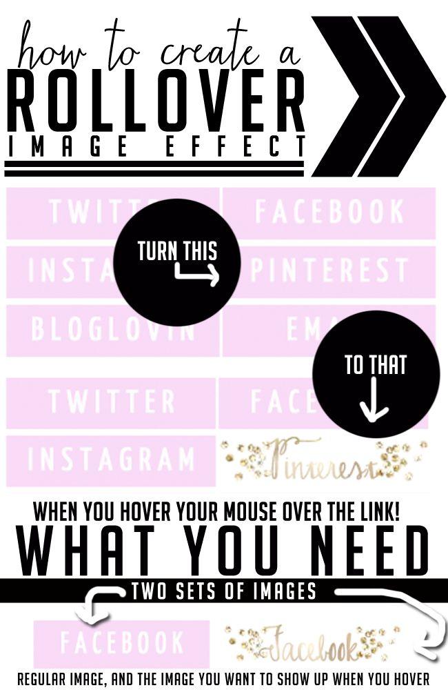 Saturday Sessions: Rollover Image Effect #blogtips #blogging #blogdesign