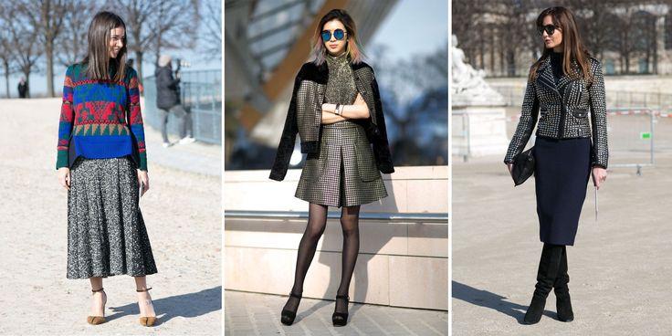 Comment porter la jupe en hiver ?