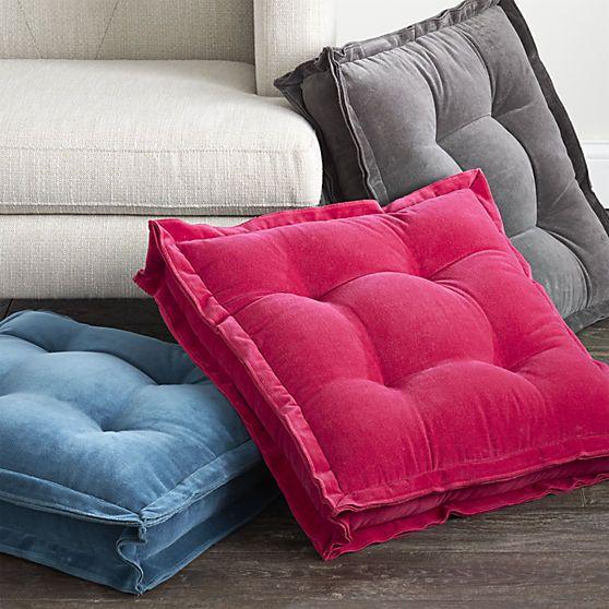 Velvet Floor Cushions - Home Safe