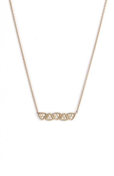 Dana Rebecca Designs 'Emily' Diamond Bar Pendant Necklace available at #Nordstrom