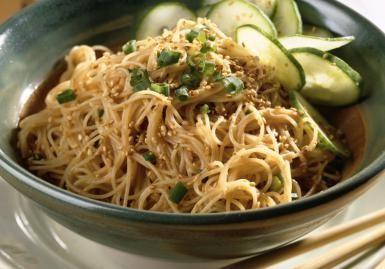 Vegetarian and vegan Asian Szechuan noodles - Vegetarian Asian noodles photo by Brian Hagiwara / Getty Images