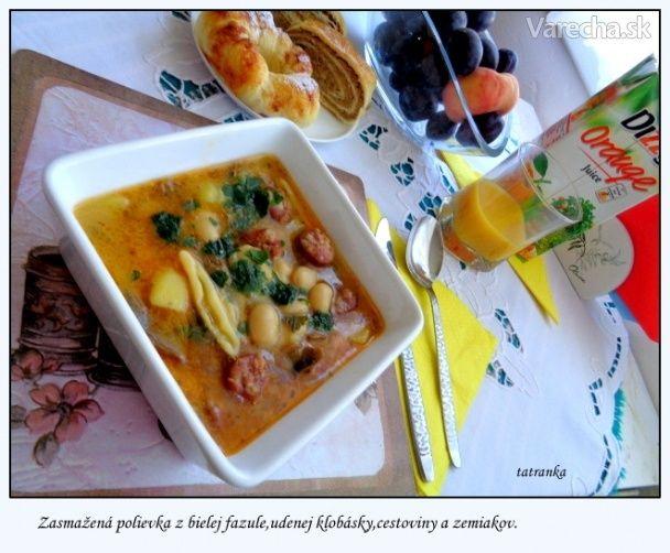 Kubo - fazuľová polievka s hubami