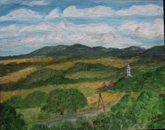 Sziráki táj Olaj festmény 24*30 cm