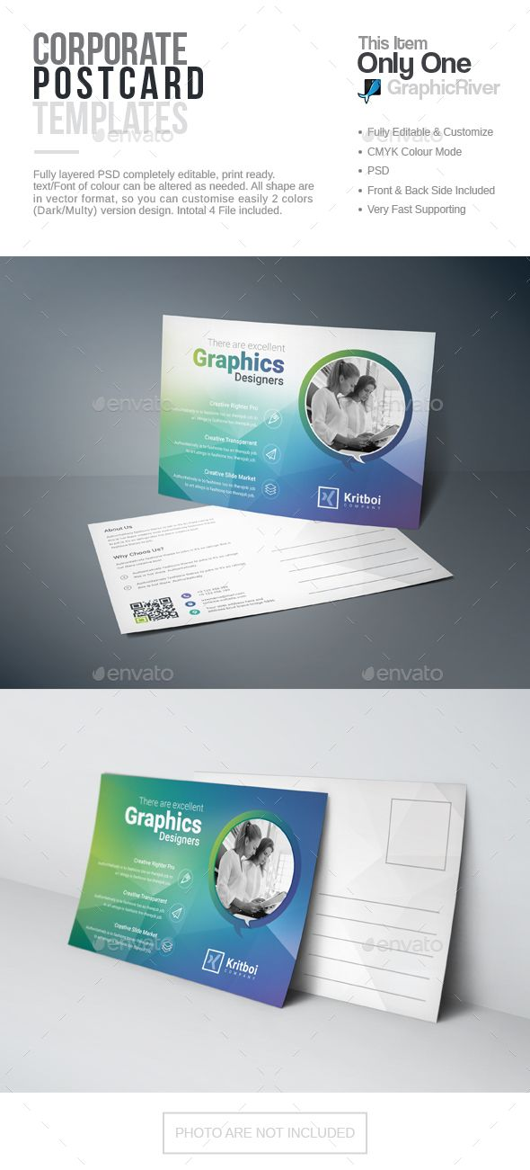 Postcard Template PSD Business