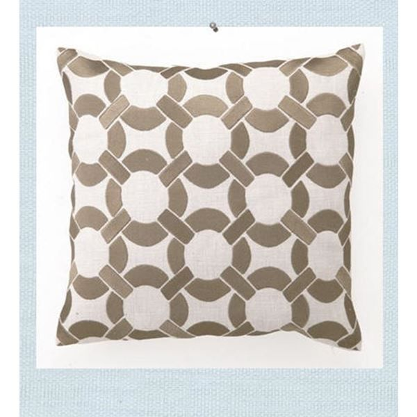 beige embroidered life ring linen pillow at seasideinspiredcom beach ocean home decor - Ocean Home Decor