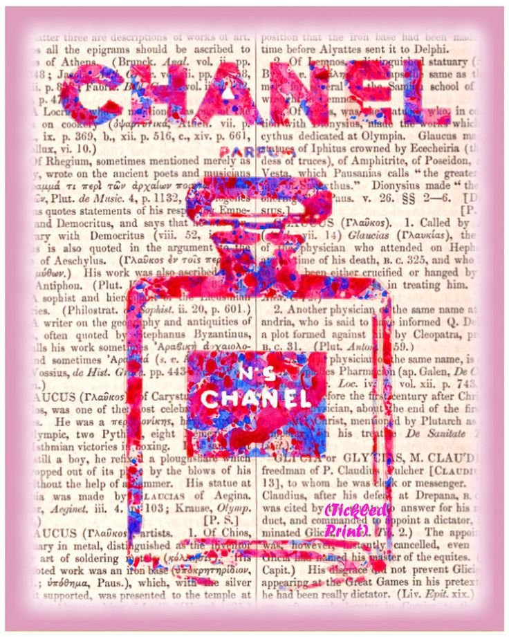 ART PRINT Chanel No.5 on Dictionary Page Coco Chanel Picture Home Decor Ladies  | eBay