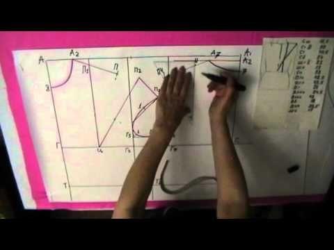 Делаем выкройку блузы   Часть 2 - YouTube