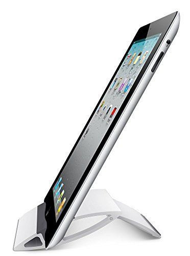 Adjustable iPad Stand Tablet Holder - SALE - BEST Portable Stand For iPad, Air, Mini, Samsung Galaxy Tab, Playbook, Xoom, Acer, Nook, Toshiba, e-Book Reader, Apple and Other Tablets. Fold-Up Universal Holder Good for Travel, Desk, Kitchen Cookbook, Airplane - All with LIFETIME - BrainyGadgets (White) //Price: $8.99 & FREE Shipping //     #cheflife #TheKitchen #Chopped #MexicanMadeEasy #9Kitchen