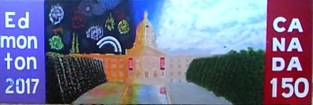"""WIP Acrylic 14 x 36"""" Aprox """"Live at the Ledge"""""""