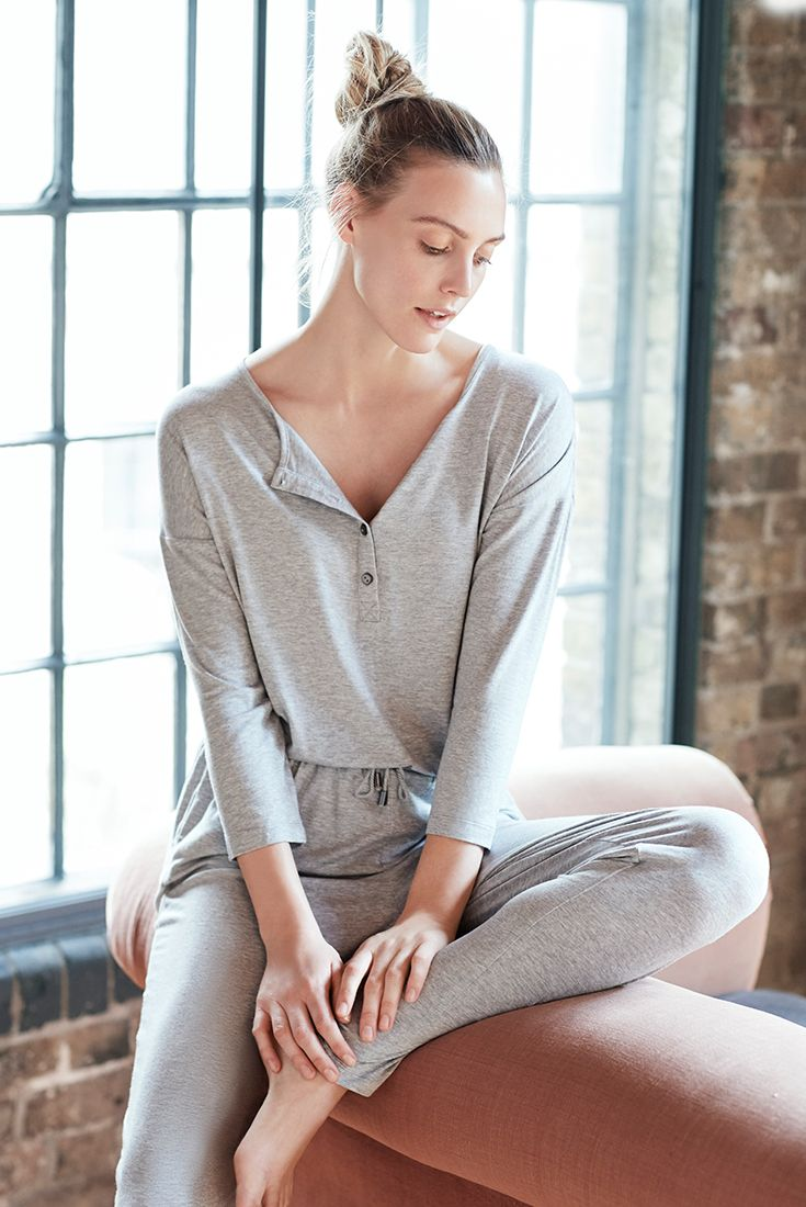 Enjoy lazy mornings in this stylish NOOM Loungewear jumpsuit.