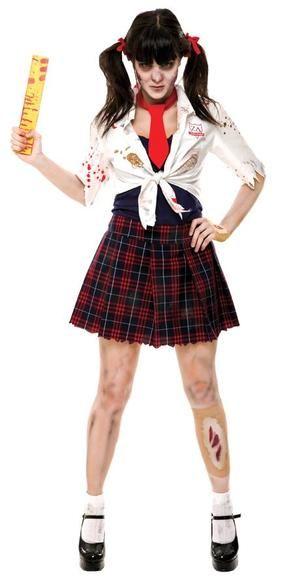 Zombie Zone Charm School Girl Costume at DelightsVille.net