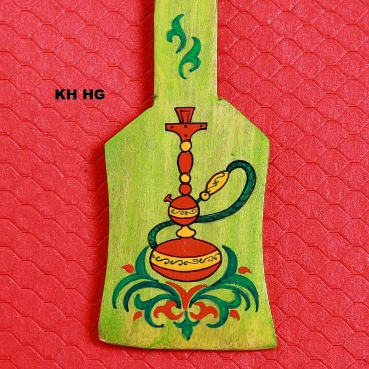 Key Holder - Hookah. This is again a Handpainted Wooden Key Holder with a design theme of Arabian Hookah.   #handpainted #arab #arabian #hookah #artisans Www.akrazymug. com