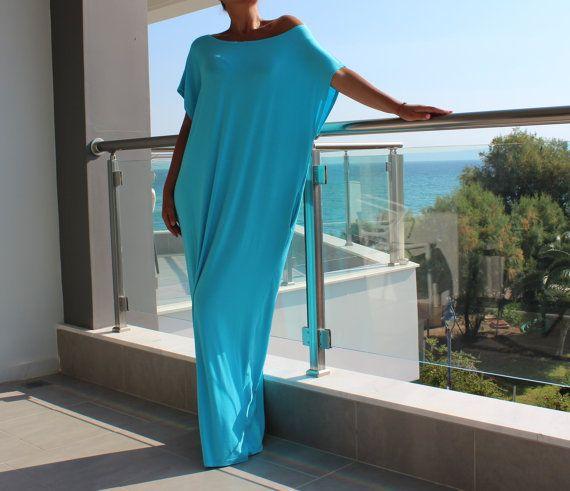 Turquoise caftan dress maxi dress kaftan by cherryblossomsdress