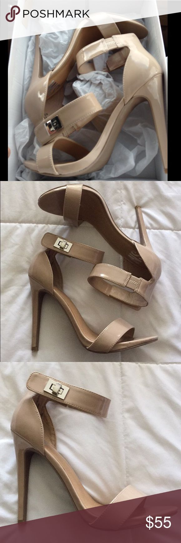 Steve Madden Nude Heels Steve Madden Nude Heels. Very classic nude heels. Only worn once to prom! Love these heels very much. Cute silver clasp to close the heel. 8M Steve Madden Shoes Heels