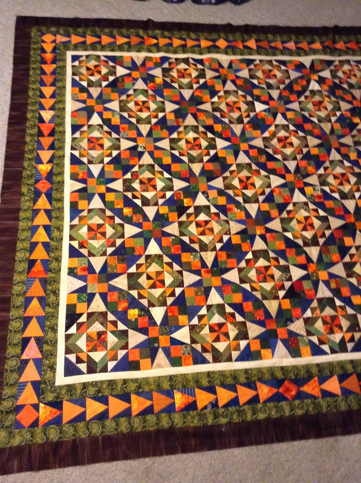 "Bonnie hunter 2014 mystery quilt Celtic solstice love this quilt I changed up the border and added a few more mine finishes at 85"" x 85"" SEW much FUN"