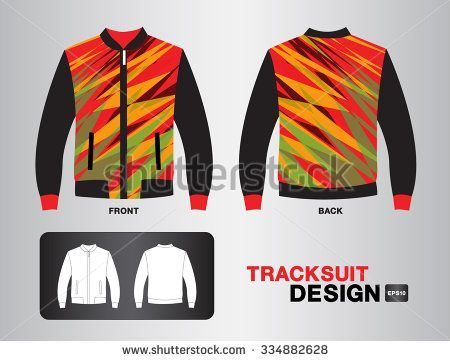 tracksuit design vector illustration