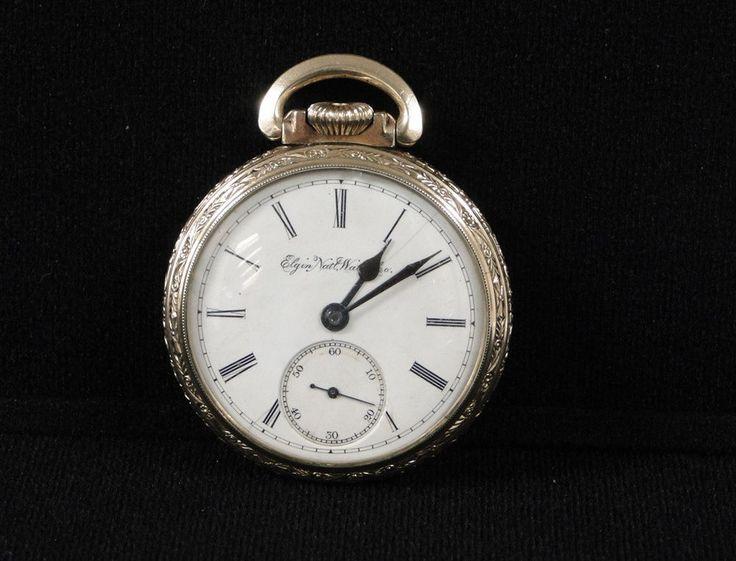1922 Elgin 16s Pocket Watch 19J Open Face 10K Gold Filled Pocketwatch BW Raymond #Elgin #antique #pocketwatch #watch #gold   0422