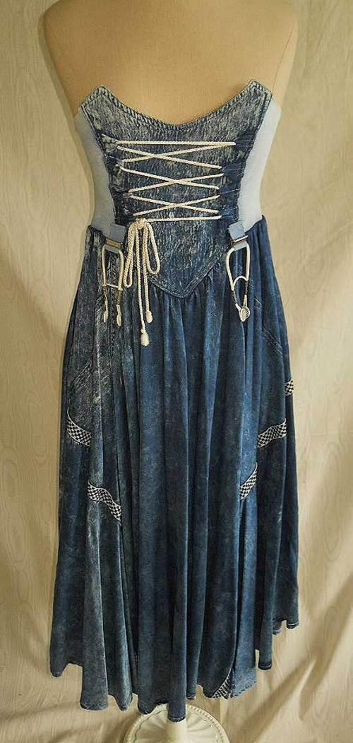 Maick Harold Denim Bustier Corset Dress - $292.00 # ...