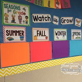 Seasonal class picture bulletin board