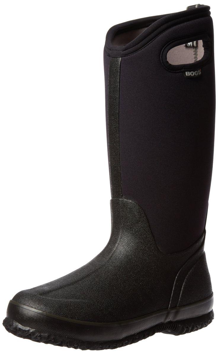 Amazon.com: Bogs Women's Classic High Handle Waterproof Winter & Rain Boot: Shoes