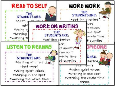 What the Teacher Wants!: Getting Started With the Daily 5! {Freebies}Daily 5 Freebies, Schools Daily, Daily5, Daily Five Posters, Daily 5 Anchor Charts, Languages Art, Classroom Ideas, Teachers, Anchors Charts