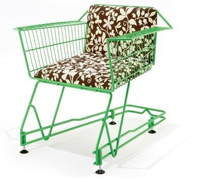 My kids would love this as they love to sit in shopping carts. (I think it would be uncomfortable): Interesting Chairs, Chairs Chairs, Shopping Carts, Ecommerce Website, Furniture, Kid Stuff, Products, Cart Chair