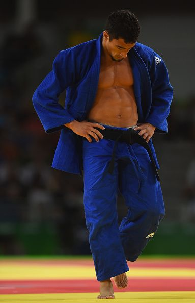 #RIO2016 Best of Day 1 - Ashley McKenzie of Great Britain reacts after being defeated by Yeldos Smetov of Kazakhstan in the Men's 60 kg Judo on Day 1 of the Rio 2016 Olympic...
