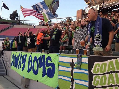 Emerald City Supporters (Seattle Sounders FC) away at Chivas. MLS