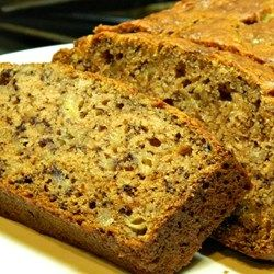 "Browned Butter Banana Bread~ ""Browning the butter really adds a depth of flavor, not to mention it smells extra amazing when in the oven. This is my go-to recipe when I have ripe bananas, & has taken me a while to get it right. Enjoy it hot, fresh from the oven."""