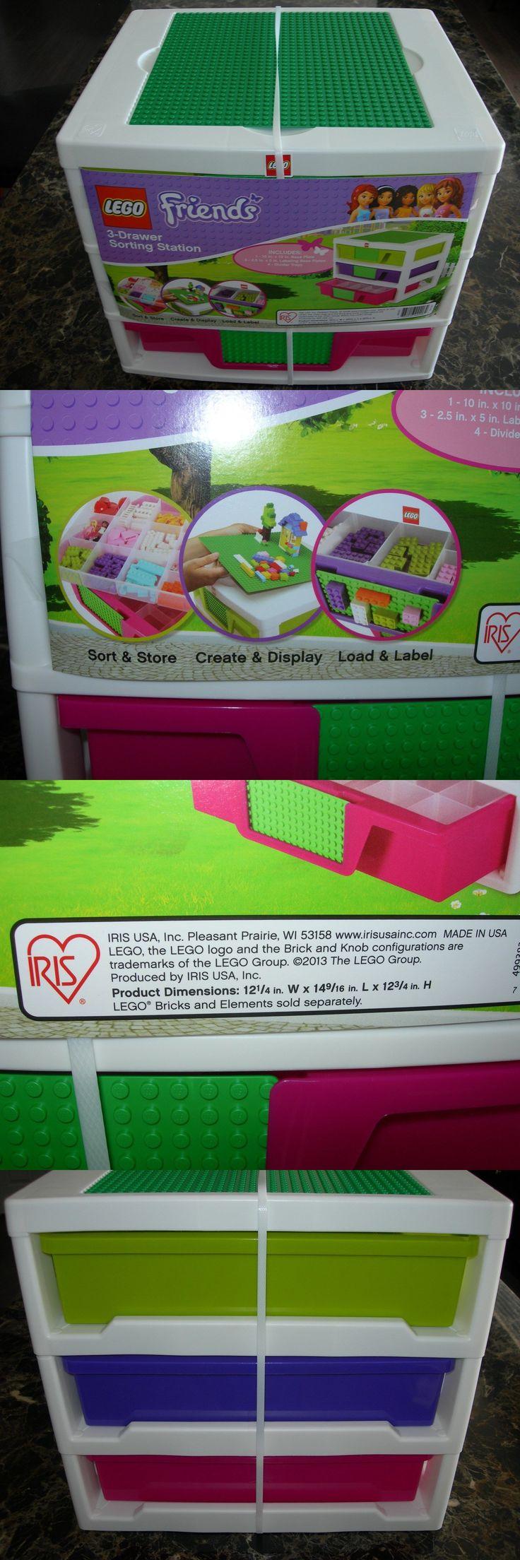 LEGO Branded Storage 183450: New Lego Friends Storage Unit 3 Drawer Sorting Station 15 L X 12 W X 13 H Iris -> BUY IT NOW ONLY: $69.95 on eBay!