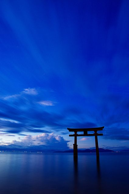 Blue | Blau | Bleu | Azul | Blå | Azul | 蓝色 | Color | Form | Texture | Blue morning - Lake Biwa in Shiga, Japan