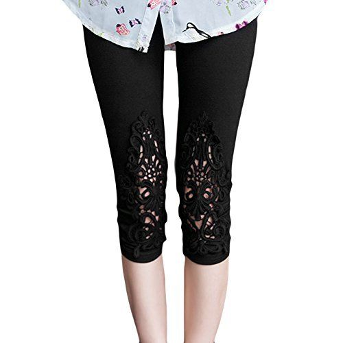 New Trending Pants: LOCOMO Women Lace Crochet Floral Casual Pant Capri Cropped Legging FFT223BLK, One Size, Black FFT213. LOCOMO Women Lace Crochet Floral Casual Pant Capri Cropped Legging FFT223BLK, One Size, Black FFT213  Special Offer: $9.99  399 Reviews LOCOMO Women Lace Crochet Floral Casual Pant Capri Cropped Legging FFT223BLKComes with LOCOMO Authentic Laser Sticker (as shown in picture). If you do...