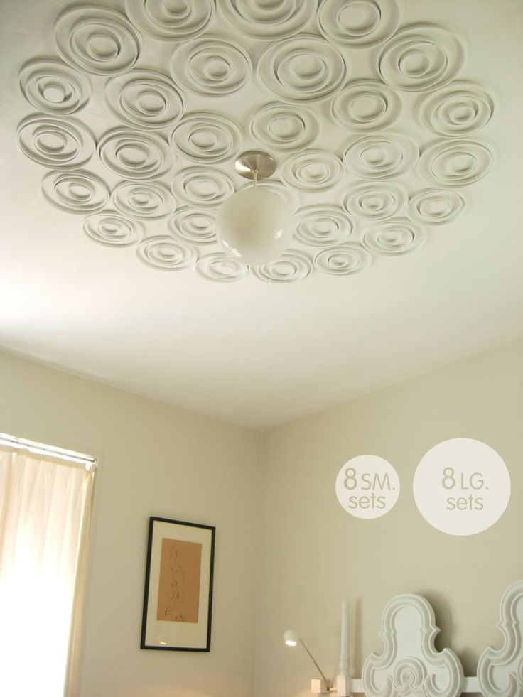 Embroidery Hoops painted same color as the ceiling. pure and noble: DIY