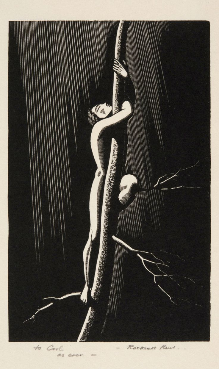 Almost, 1929. Rockwell Kent. Wood engraving                                                                                                                                                     More