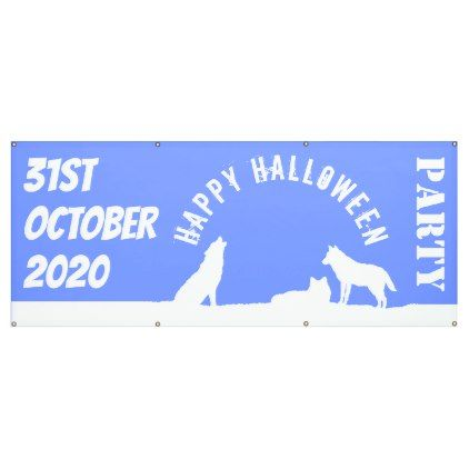 #Wolves in Snow Happy Halloween Banner - #office #gifts #giftideas #business