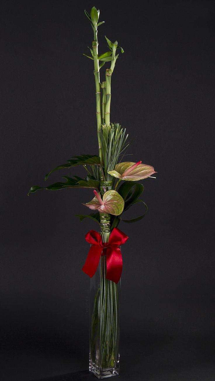 Цветы, букет в параллельном стиле