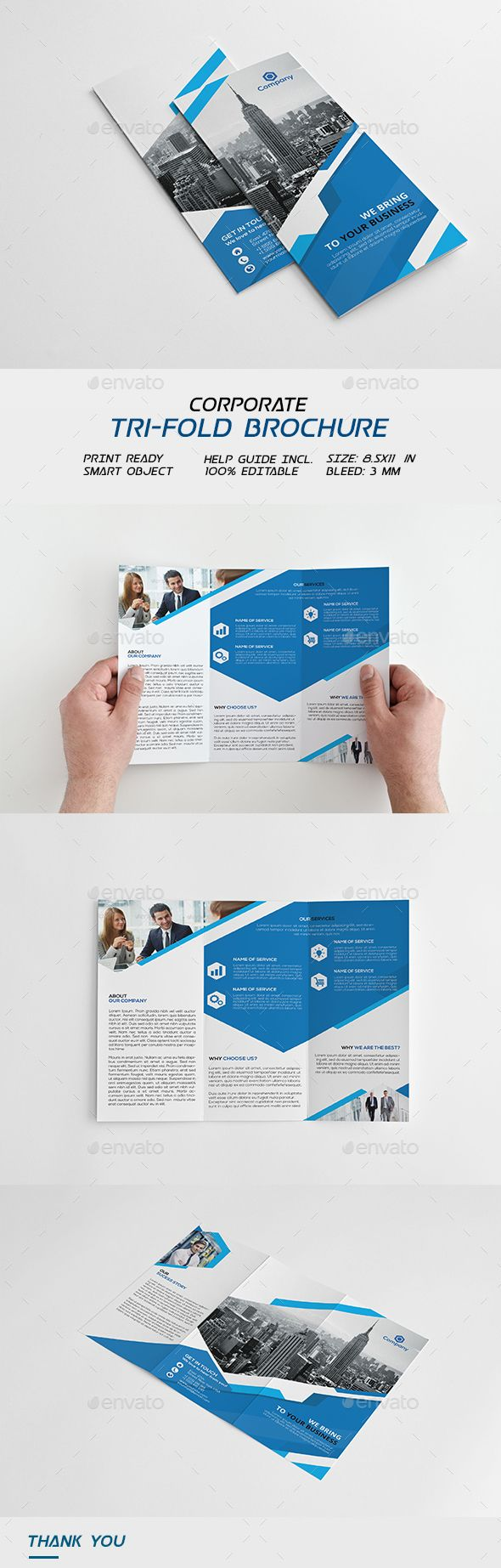 Corporate Trifold Brochure - Corporate #Brochures Download here: https://graphicriver.net/item/corporate-trifold-brochure/18405796?ref=alena994