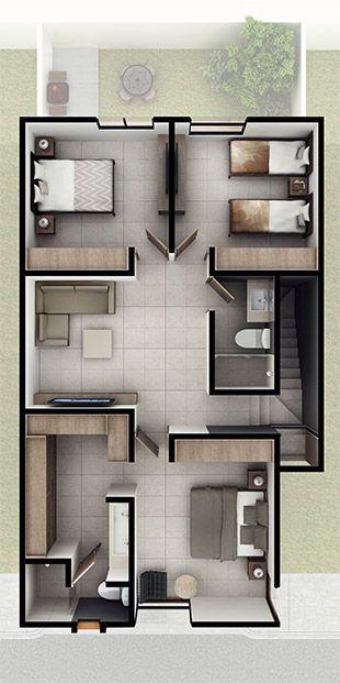 Casas en Querétaro - Modelo Daya Planta alta - Antalia Residencial