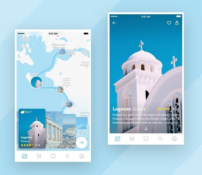 "637 Me gusta, 4 comentarios - UI UX Digital Inspiration (@uitrends) en Instagram: ""Mapping beautiful Greece. ⠀ Place Preview by Dima Miro⠀ - ⠀ Follow us @uitrends for daily Ui Ux…"""