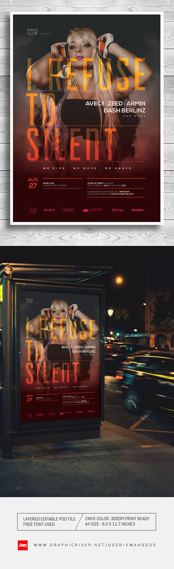 58 best EDM And Nightclub Flyer Poster Template images on ...