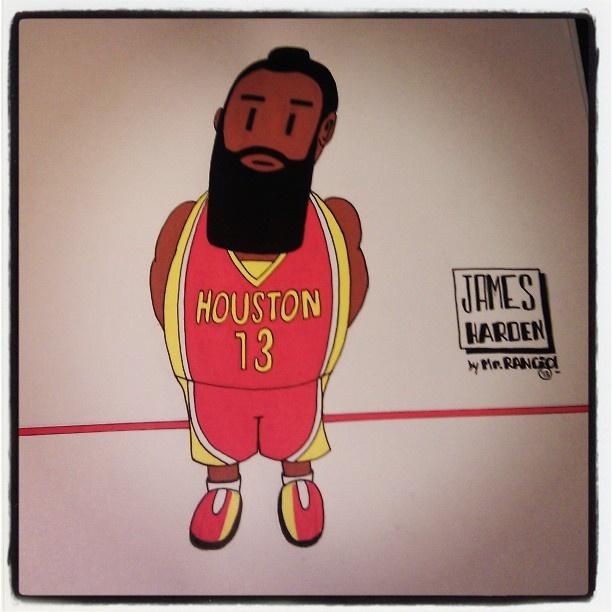 James Harden  by www.rancio.es #nba #houston #rockets #texas #basketball #blackbeard #losangeles #instahub #instagraphics #instago #shotout #posca #art #paintings