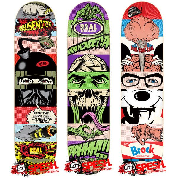 D*Face x Real Skateboards Decks ❤ liked on Polyvore featuring boards and skate